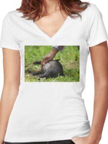 So spoiled Women's Fitted V-Neck T-Shirt
