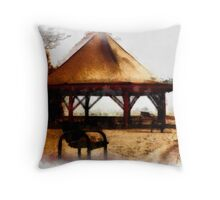 Orillia - Park Bench & Gazebo Throw Pillow