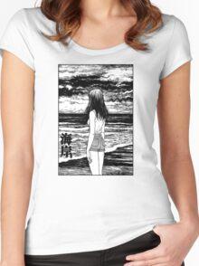 Uzumaki – Sea Women's Fitted Scoop T-Shirt