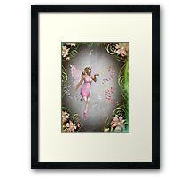 Sprinkling a little fairy dust... Framed Print