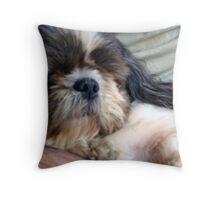 Safe in Daddy's Arms Throw Pillow
