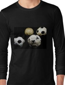 Football collection black background Long Sleeve T-Shirt
