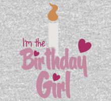I'm the Birthday girl with candle pink HAPPY BIRTHDAY! Kids Tee