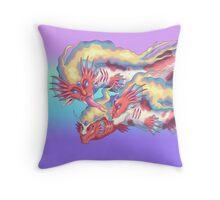 Strange Dragons Throw Pillow