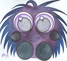 purple fluff by margery123