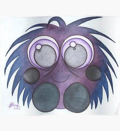 purple fluff Poster