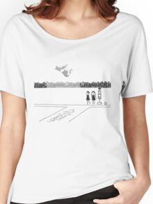 Girls (DDDD) – Abduction [Black and White Version] Women's Relaxed Fit T-Shirt