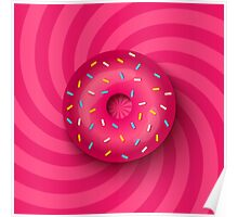Pink donut  Poster