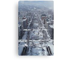 Snow – Japanese City Canvas Print