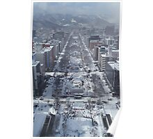 Snow – Japanese City Poster