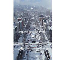 Snow – Japanese City Photographic Print