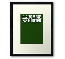 Zombie Hunter T Shirt Framed Print