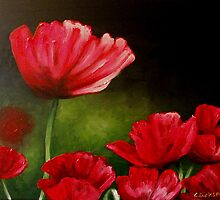 Red Poppies... by Cherie Roe Dirksen
