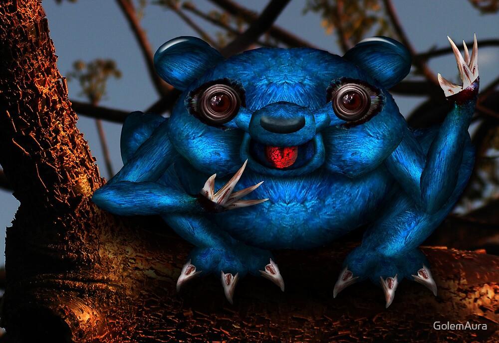 The Blue Aye Aye by GolemAura