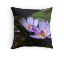 Purple flames Throw Pillow