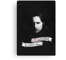 Return your Library Books or Else.... Canvas Print