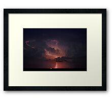 Lightning Cloud over Western Oklahoma Framed Print