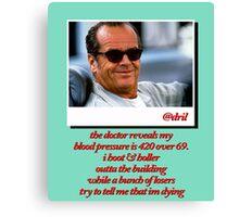 Jack Nicholson Quotes Canvas Print