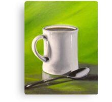 Mug and Spoon Canvas Print