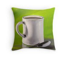 Mug and Spoon Throw Pillow
