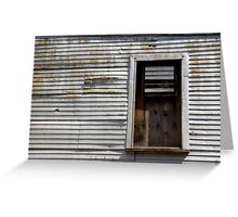 Rusted Facade Greeting Card