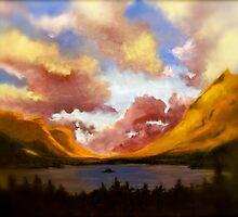 Purple Cloud Landscape by Amber Witt