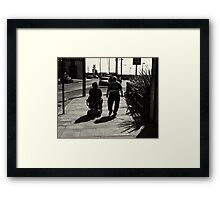 A jack tar never grows too old for the ladies. Framed Print
