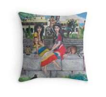 Two Ladies of Minos Posing Throw Pillow