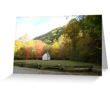 Palmer Chapel in Autumn Color Greeting Card