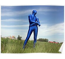 Blue Zentai in the Field 1 Poster