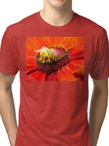 Pollination of Red Flower Tri-blend T-Shirt