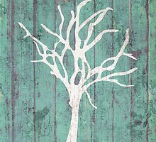 Blue Rustic Tree by anabellstar