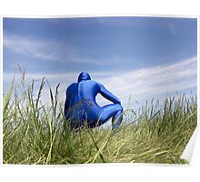 Blue Zentai in the Field 7 Poster