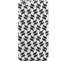 Black seamless floral pattern iPhone Case/Skin
