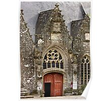 Ornate Church Facade - Rochefort-en-Terre  - Brittany, France Poster