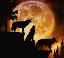 Wolves Peak by JulieFainArt