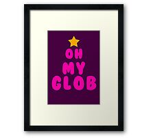 Oh my glob, adventure time Framed Print