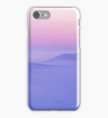 Winter landscape with sunset iPhone Case/Skin