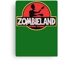 Jurassic Parody Zombie T Shirt Canvas Print