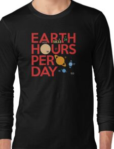 Earth Hours Per Day Long Sleeve T-Shirt