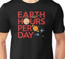 Earth Hours Per Day Unisex T-Shirt