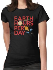Earth Hours Per Day Womens Fitted T-Shirt