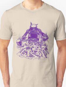Citycrusher -protecting the earth- purple T-Shirt