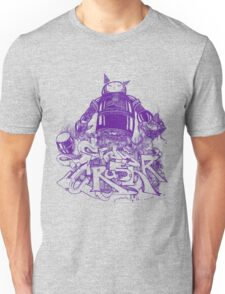 Citycrusher -protecting the earth- purple Unisex T-Shirt