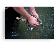 The Measuring Rod Canvas Print