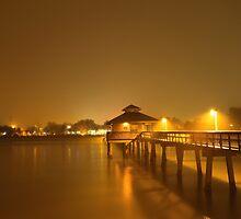 foggy pier by kathy s gillentine