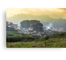 Langmusi temple in Sichuan, China Canvas Print