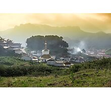 Langmusi temple in Sichuan, China Photographic Print