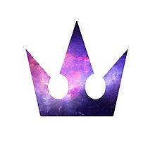 Kingdom hearts crown Galaxy style Photographic Print