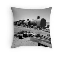 Abandoned Trains Throw Pillow